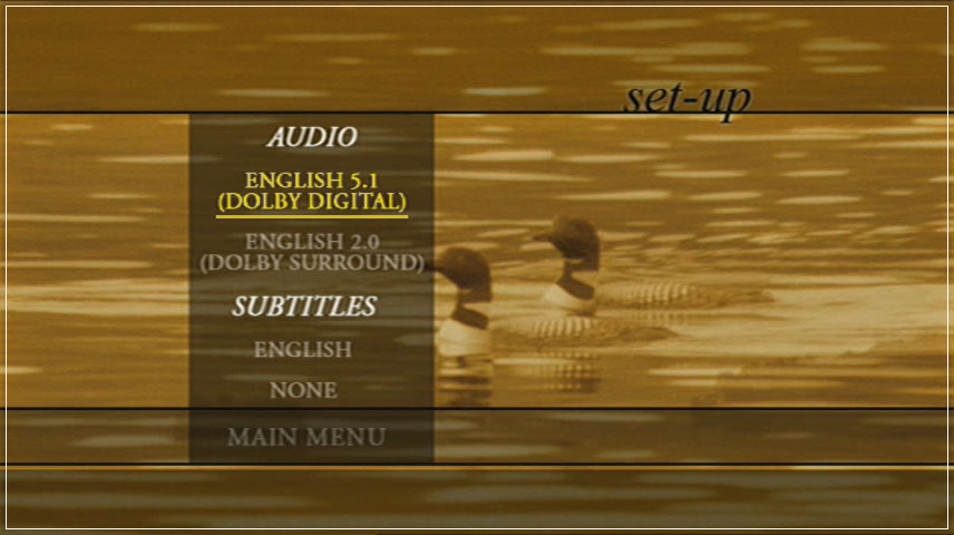 On Golden Pond (1981) DVD Menu