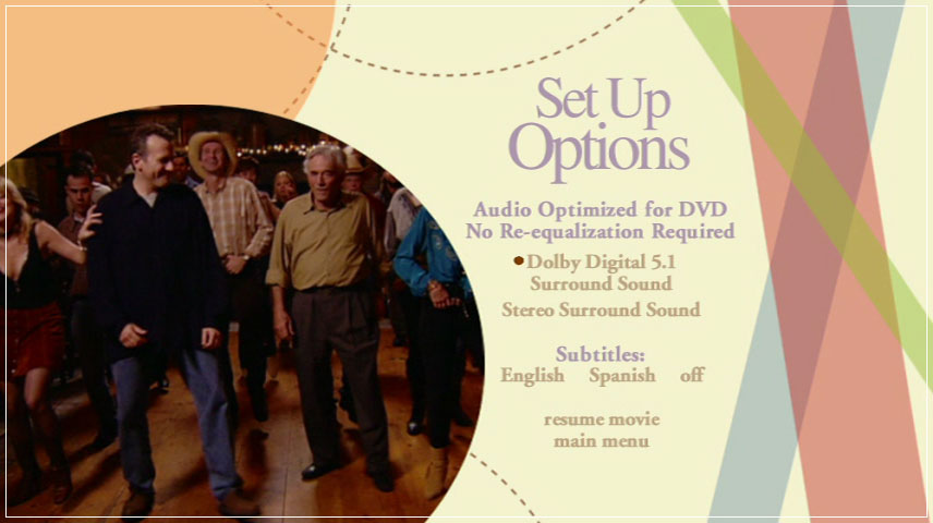 The Thing About My Folks (2005) DVD Menu