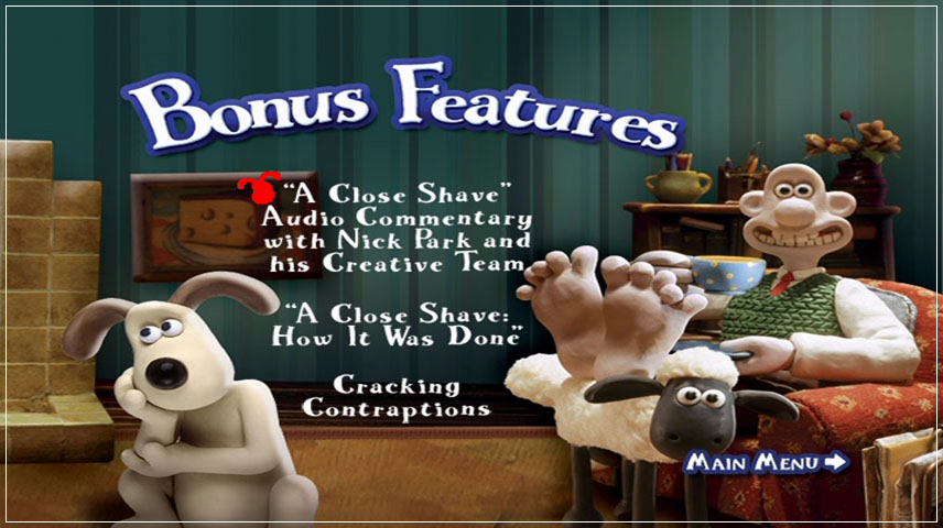 Wallace & Gromit: A Close Shave (1995) DVD Menu